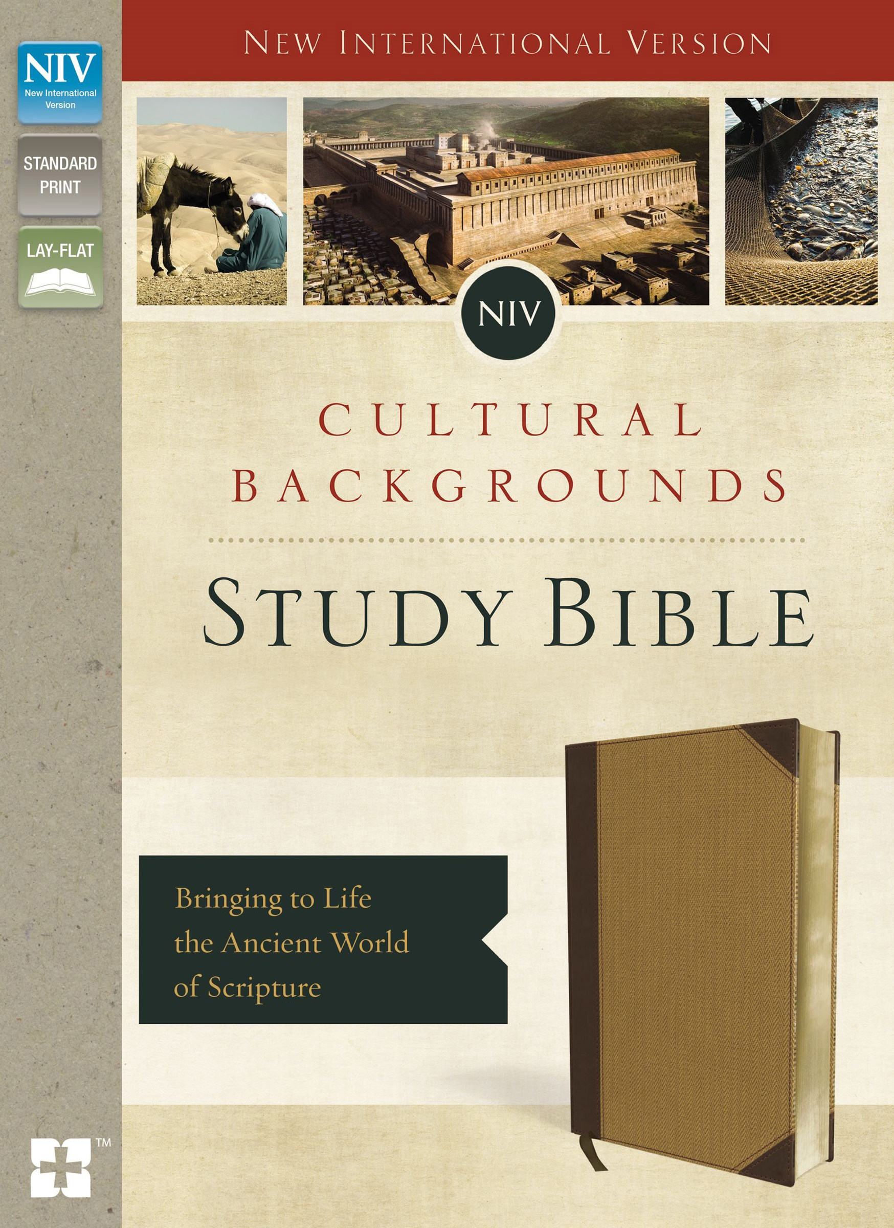 NIV, Cultural Backgrounds Study Bible, Indexed: Bringing To Life The Ancient World Of Scripture [Italian Duo-Tone Brown/Tan]