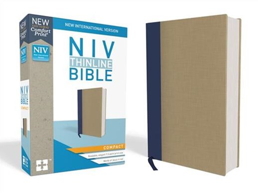 NIV Thinline Bible Compact [Cloth, Tan]