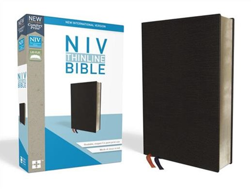 NIV Thinline Bible Red Letter Edition [Leather, Black]