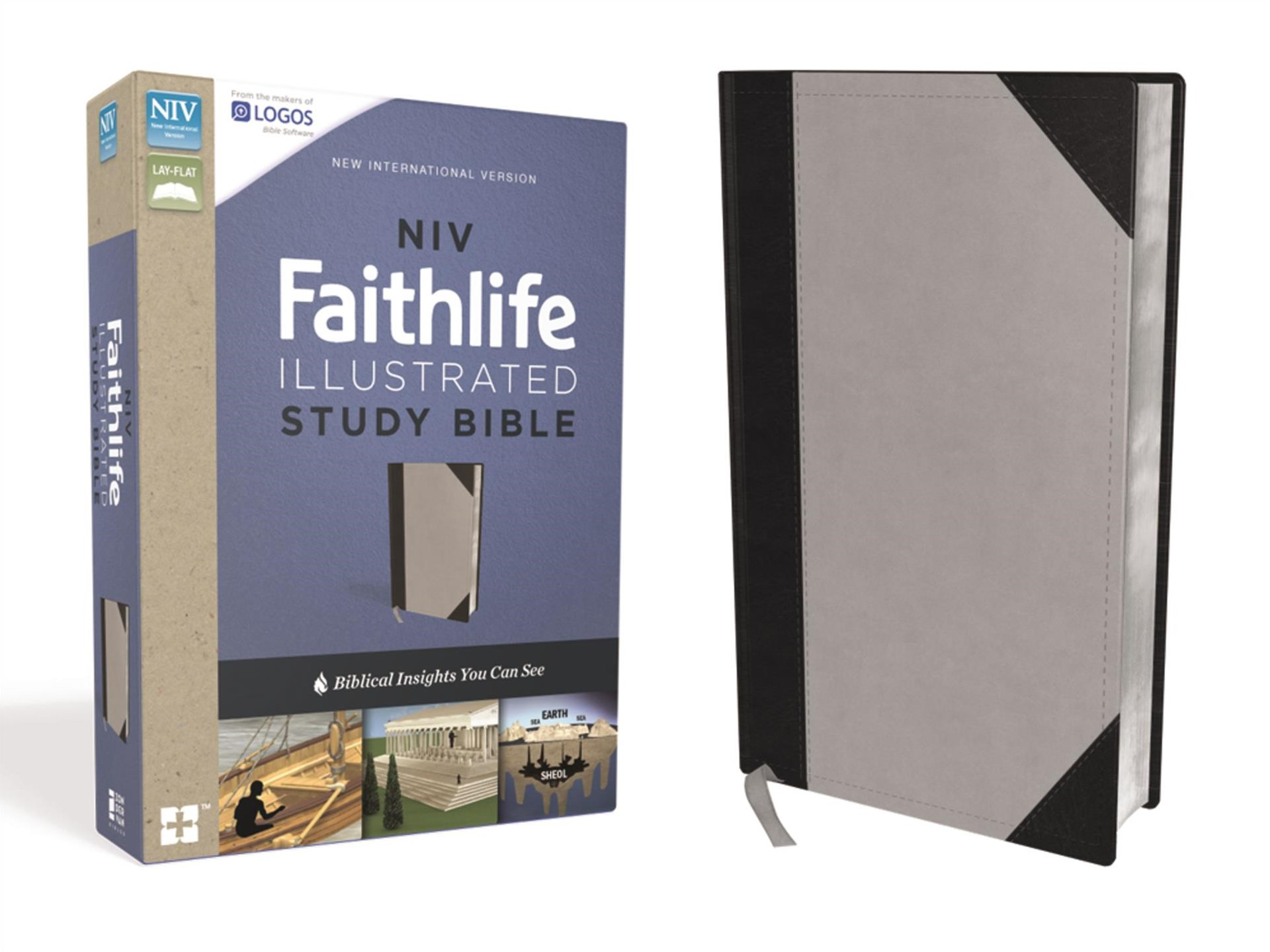 NIV Faithlife Illustrated Study Bible: Biblical Insights You Can See [Grey/Black]