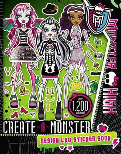 Monster High: Create-A-Monster Design Lab Sticker Book