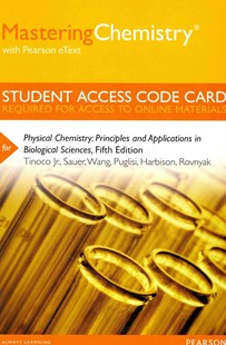 MasteringChemistry with Pearson EText -- Standalone Access Card -- for Physical Chemistry by Ignacio Tinoco, Kenneth Sauer, James C. Wang, Joseph D. Puglisi, Gerard Harbison, David Rovnyak (9780321898166) - HardCover - Science & Technology Chemistry