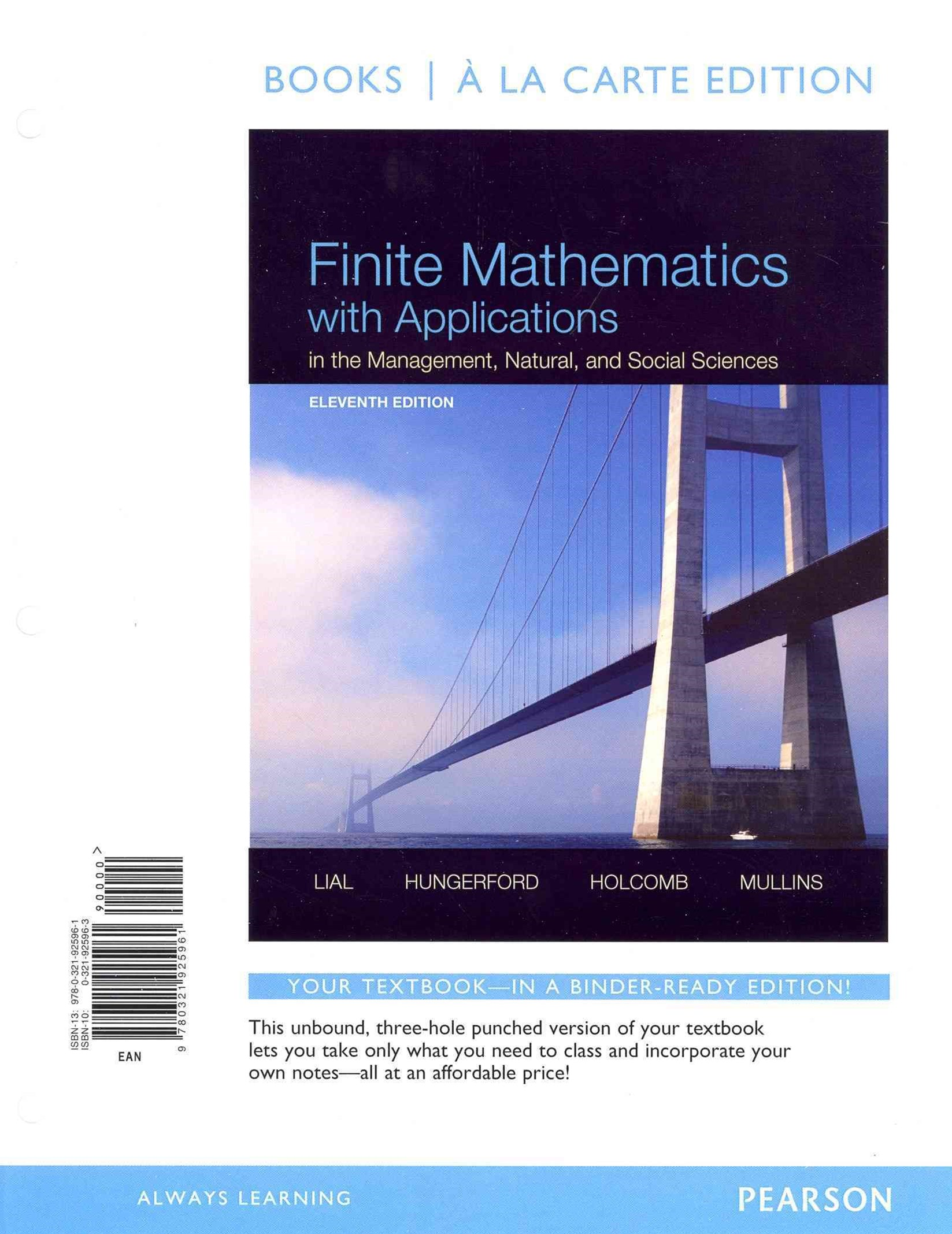 Finite Mathematics with Applications in the Management, Natural, and Social Sciences, Books a la Ca