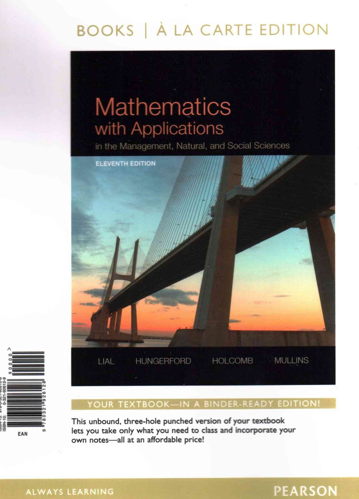 Mathematics with Applications in the Management, Natural, and Social Sciences, Books a la Carte Edi