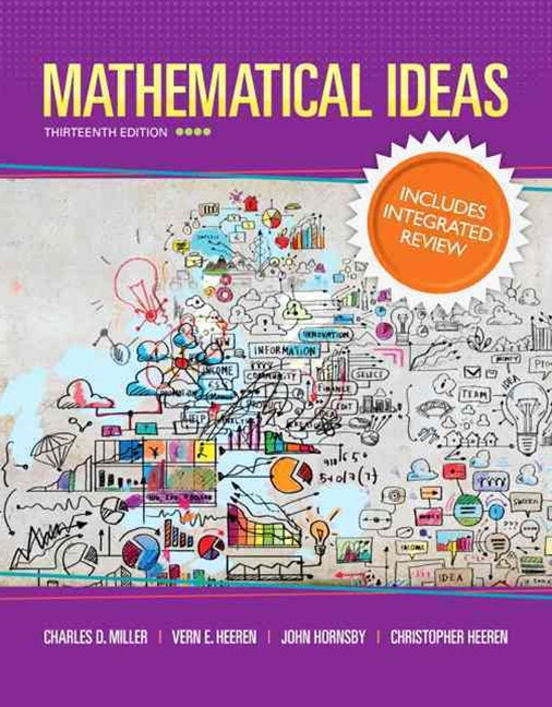 Mathematical Ideas with Integrated Review and Worksheets Plus NEW MyMathLab with Pearson EText -- A