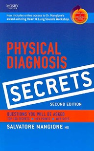 Physical Diagnosis Secrets by Salvatore Mangione (9780323034678) - PaperBack - Reference Medicine