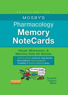 Mosby's Pharmacology Memory Notecards - Reference Medicine
