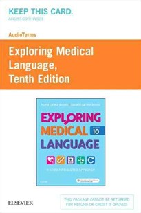 Audioterms for Exploring Medical Language - Retail Pack by Brooks, Myrna Lafleur/ Brooks, Danielle Lafleur, Danielle Lafleur Brooks (9780323415774) - HardCover - Reference Medicine
