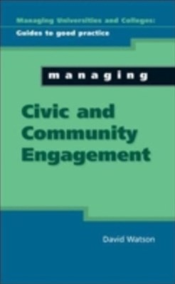 Managing Civic And Community Engagement