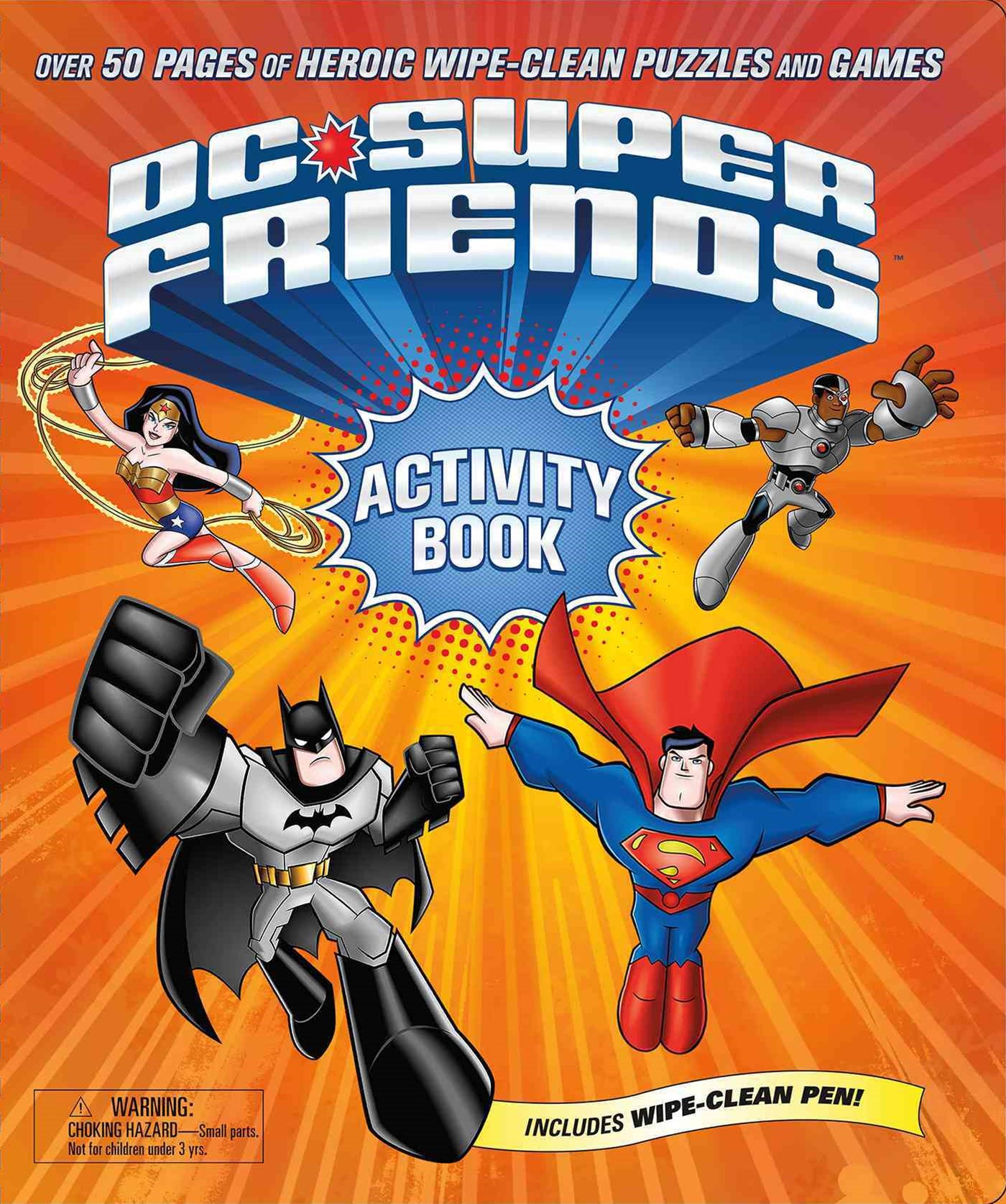 DC Super Friends Wipe Clean Activity Book