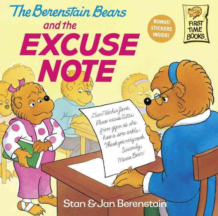 Berenstain Bears Excuse Note