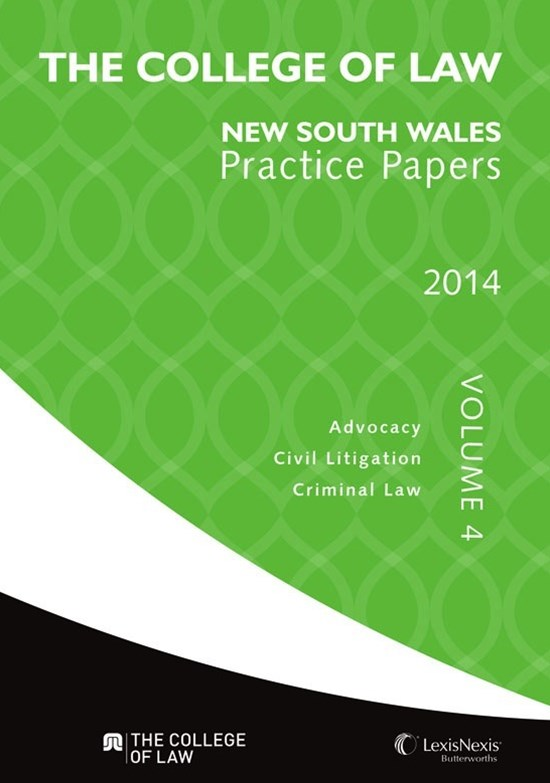 The College of Law Practice Papers NSW 2014, Volume 4
