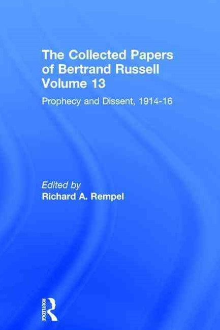 Collected Papers of Bertrand Russell