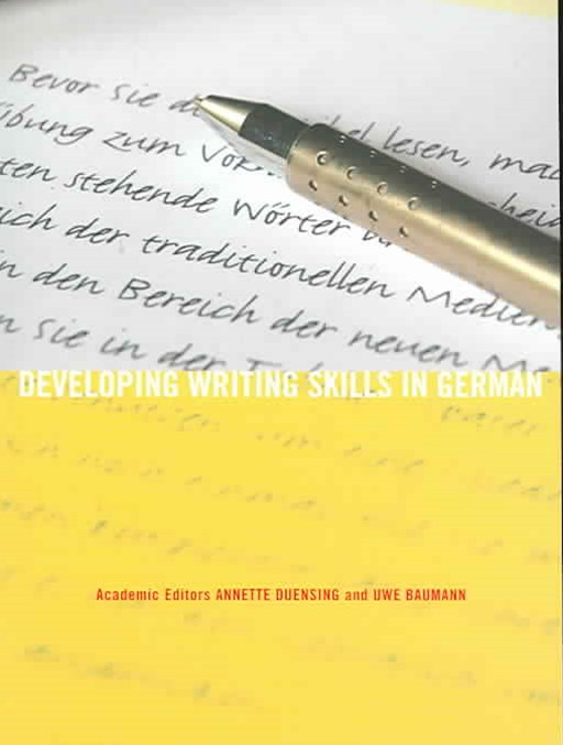 Developing Writing Skills in German