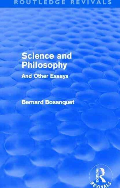 Science and Philosophy (Routledge Revivals)