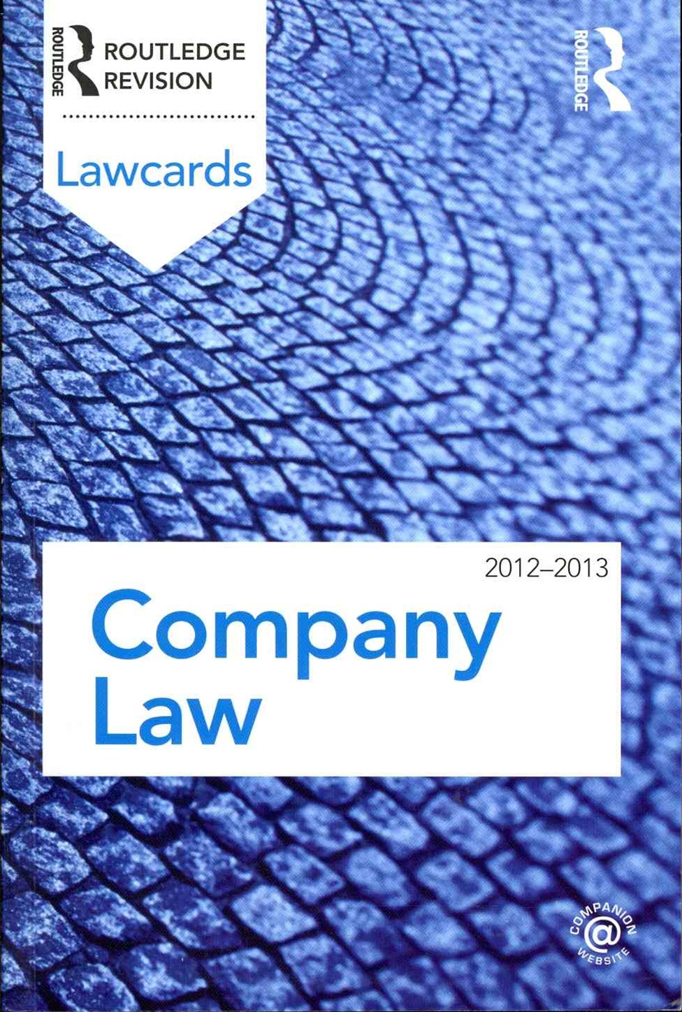 Company Lawcards 2012-2013