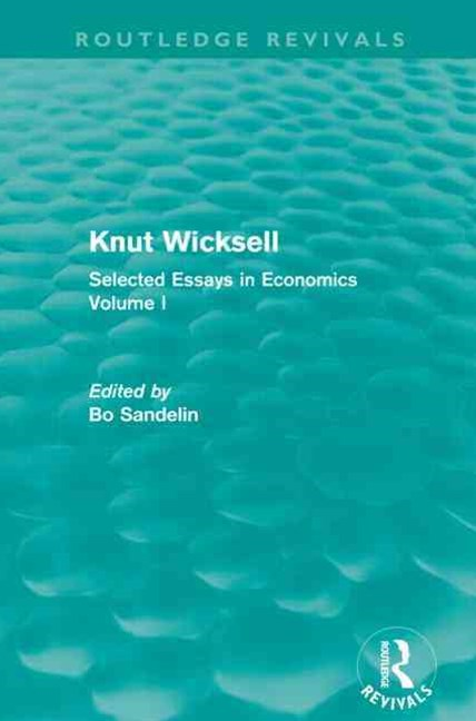 Knut Wicksell (Routledge Revivals)