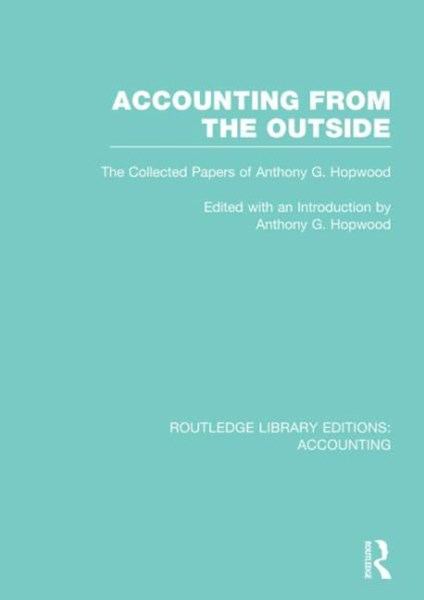 Accounting from the Outside