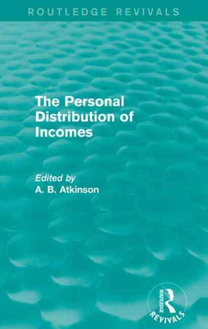The Personal Distribution of Incomes