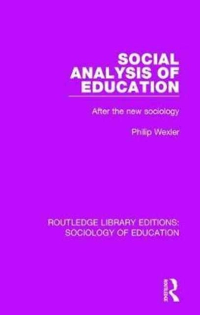 Social Analysis of Education