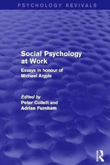 Social Psychology at Work (Psychology Revivals)