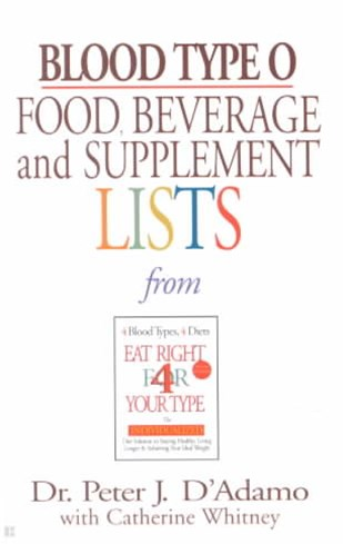 Blood Type O: Food, Beverage & Supplement List