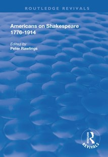 (ebook) Americans on Shakespeare, 1776-1914 - Social Sciences Sociology