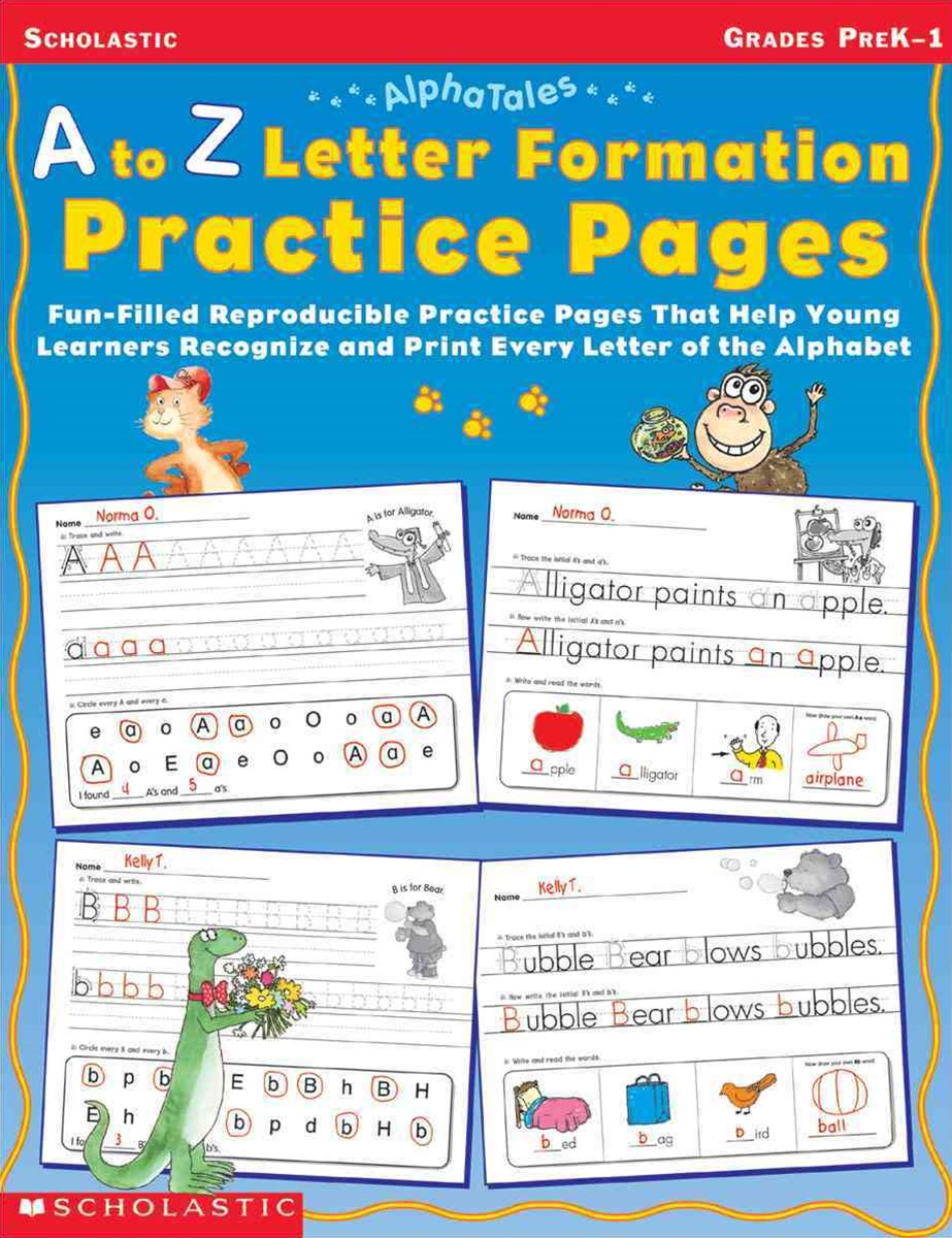 \A to Z Letter Formation Practice Pages