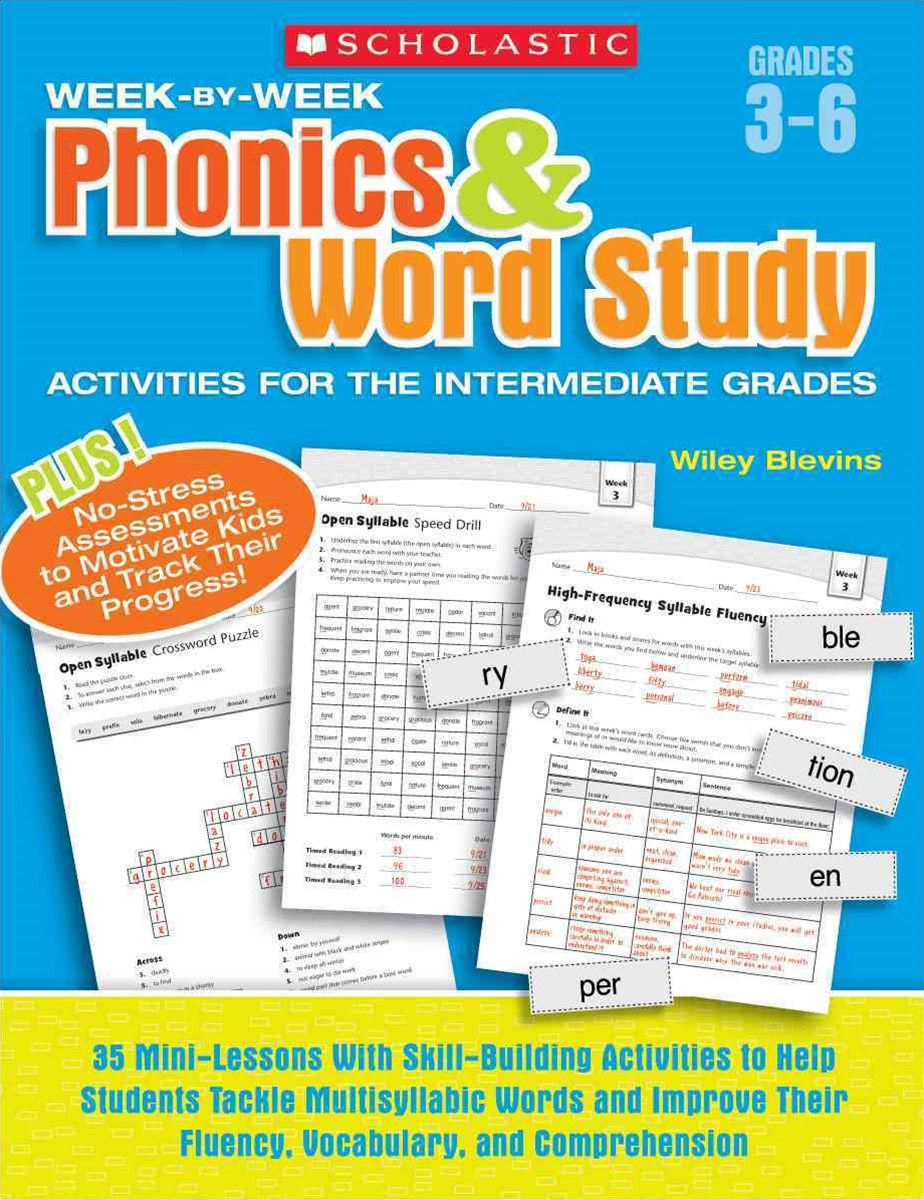 Week-by-Week Phonics and Word Study Activities for the Intermediate Grades