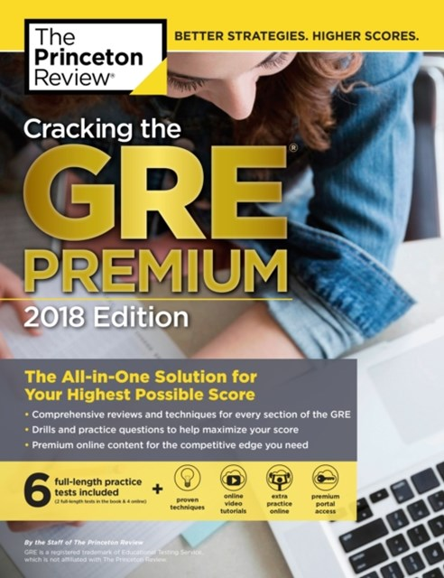(ebook) Cracking the GRE Premium Edition with 6 Practice Tests, 2018