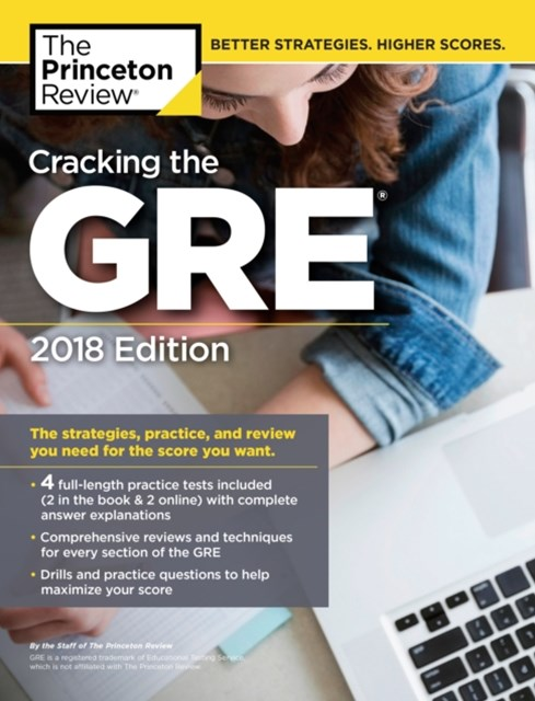 (ebook) Cracking the GRE with 4 Practice Tests, 2018 Edition