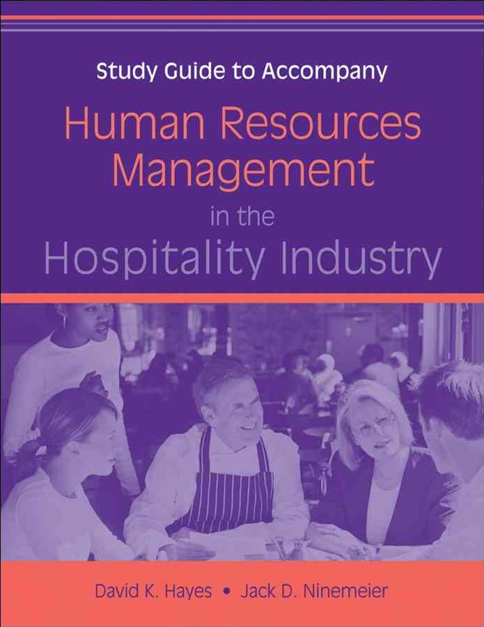 Human Resources Management in the Hospitality Industry Study Guide