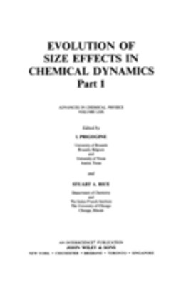 Evolution of Size Effects in Chemical Dynamics, Part 1
