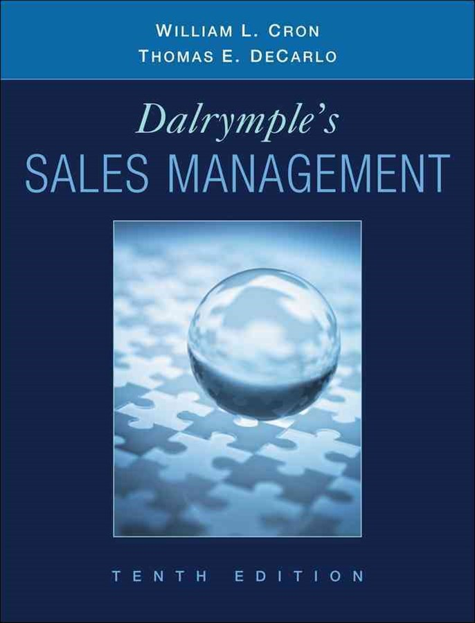 Sales Management Concepts and Cases 10E