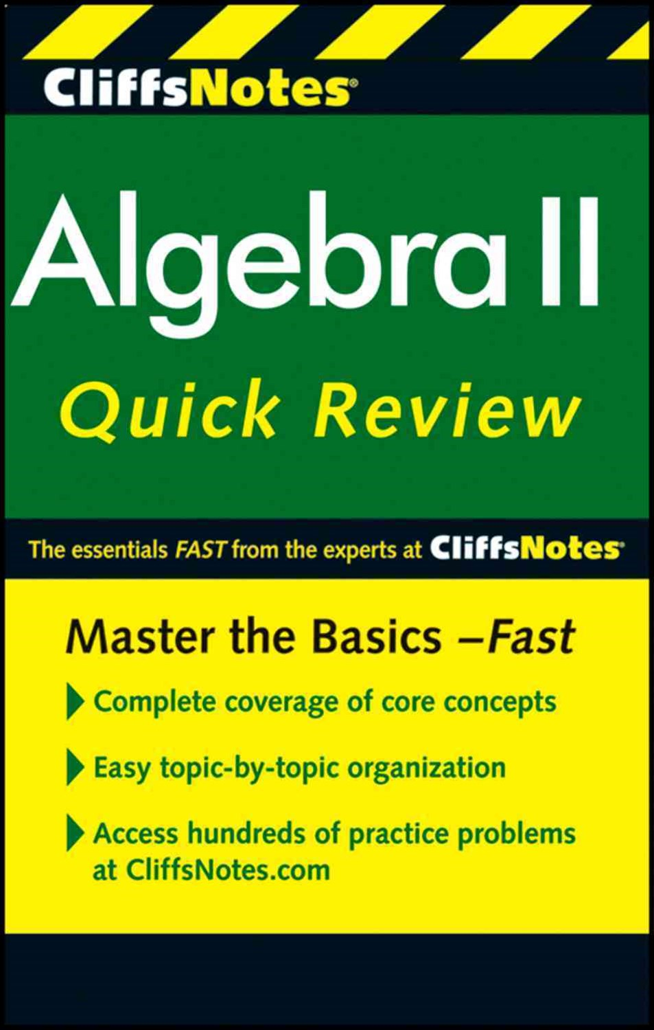 CliffsNotes Algebra II QuickReview: 2nd Edition