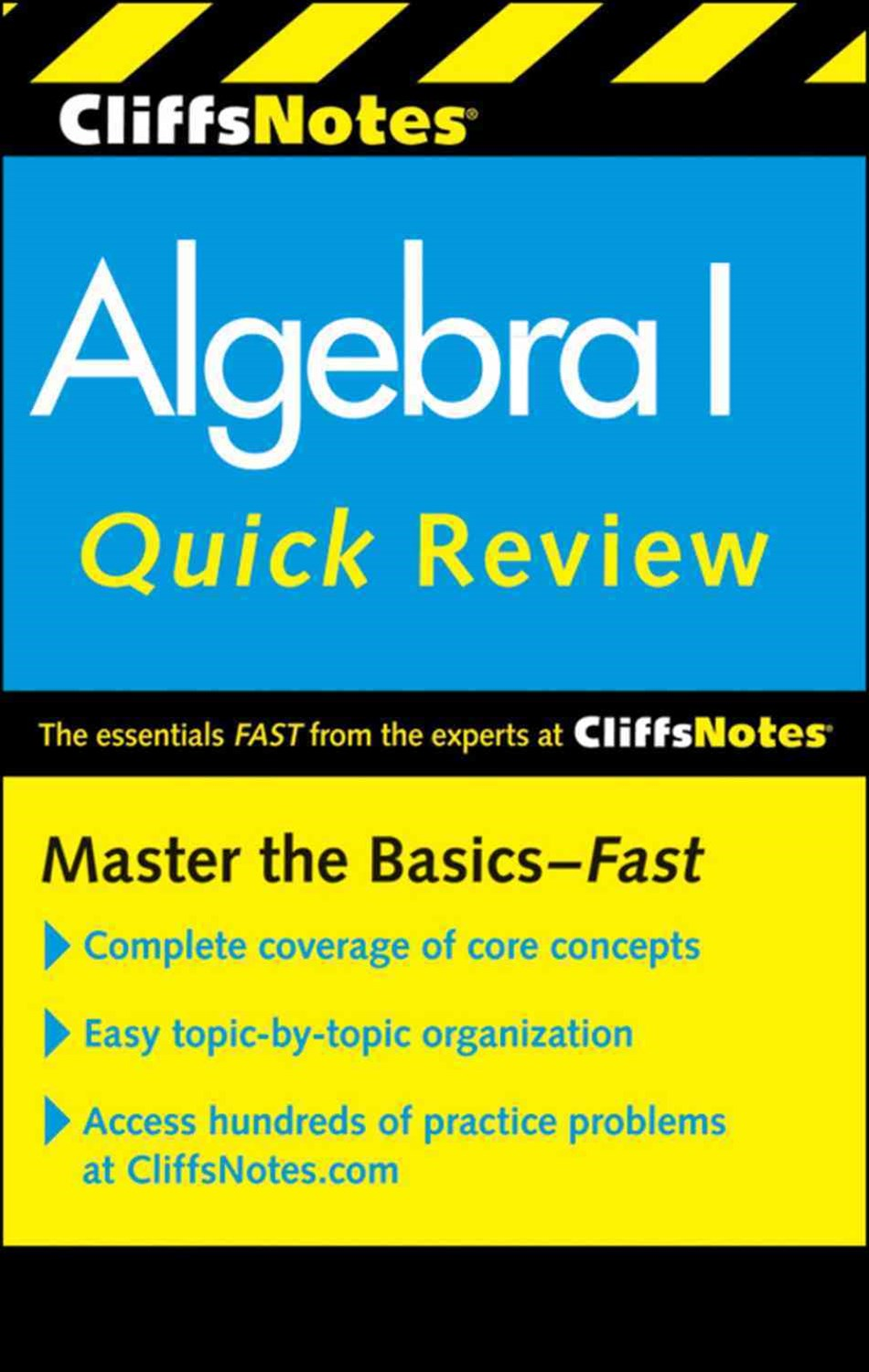 CliffsNotes Algebra I Quick Review: 2nd Edition