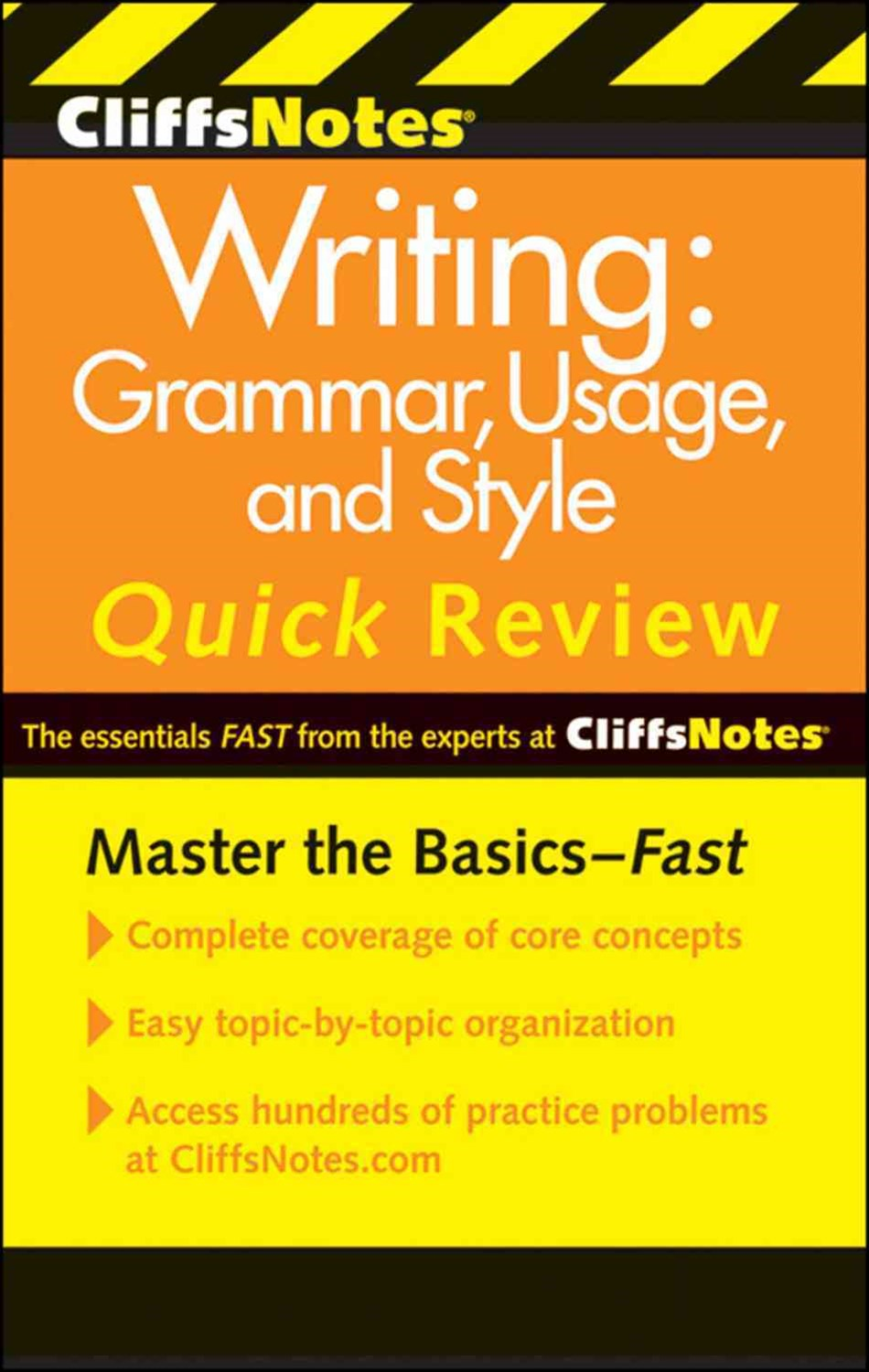 CliffsNotes Writing: Grammar, Usage, and Style Quick Review: 3rd Edition