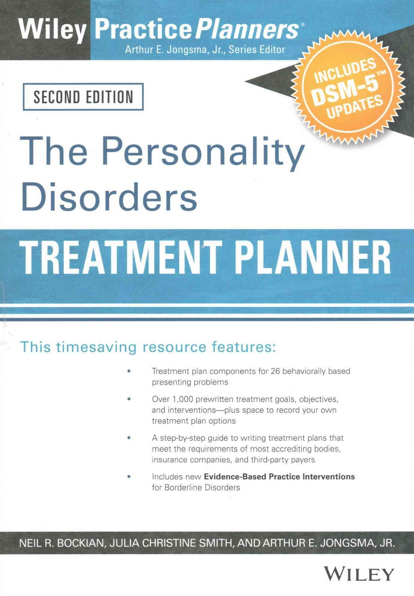 The Personality Disorders Treatment Planner, Second Edition