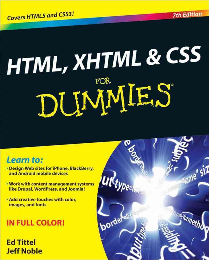 HTML, XHTML & CSS for Dummies, 7th Edition