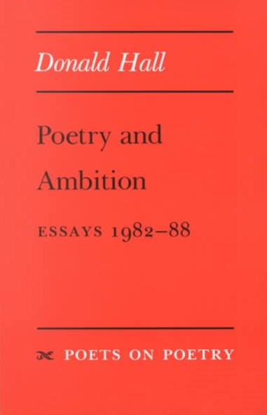 Poetry and Ambition
