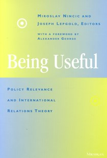 Being Useful by  (9780472086566) - PaperBack