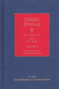 Greek Syntax by K.W. Kruger, K. W. Kruger, Guy L. Cooper (9780472112951) - HardCover - History Ancient & Medieval History