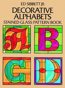 (ebook) Decorative Alphabets Stained Glass Pattern Book - Craft & Hobbies