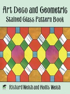 (ebook) Art Deco and Geometric Stained Glass Pattern Book - Craft & Hobbies