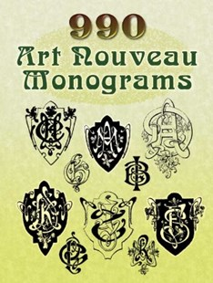 (ebook) 990 Art Nouveau Monograms - Art & Architecture Art Technique