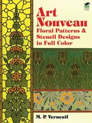 (ebook) Art Nouveau Floral Patterns and Stencil Designs in Full Color