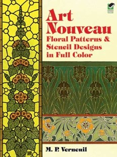 (ebook) Art Nouveau Floral Patterns and Stencil Designs in Full Color - Art & Architecture General Art