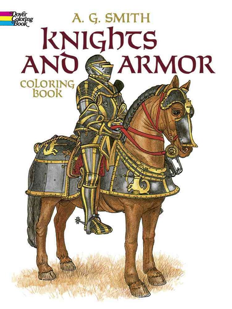 Knights and Armor Coloring Book