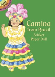 Camina from Brazil Sticker Paper Doll