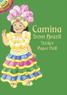 Camina from Brazil Sticker Paper Doll by YUKO GREEN (9780486433110) - PaperBack - Non-Fiction Art & Activity